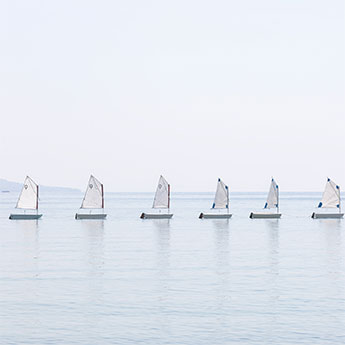 The Little Sailboats No 1 - Nautical wall art by Cattie Coyle Photography fi