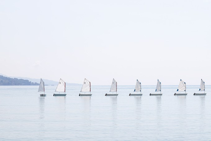 The Little Sailboats No 1 - Nautical wall art by Cattie Coyle Photography