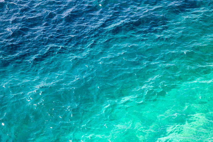 Mediterranean Shades of Teal No 1 - Ombre ocean wall art by Cattie Coyle Photography