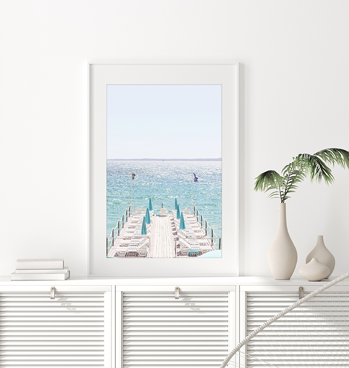 Juan-Les-Pins - Turquoise water art print by Cattie Coyle Photography
