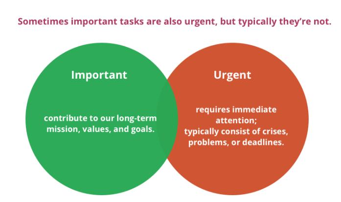 Task: Important vs. Urgent