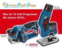 Bosch Kantenfrse und Hobel neu im 12 Volt Programm