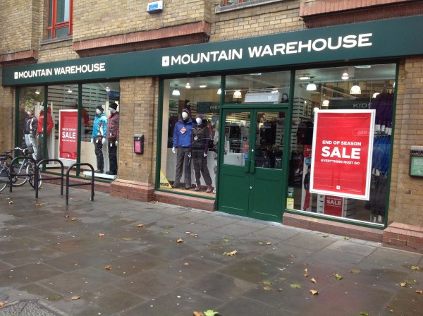 Mountain Warehouse Open Store in Fulham - Inside the ...