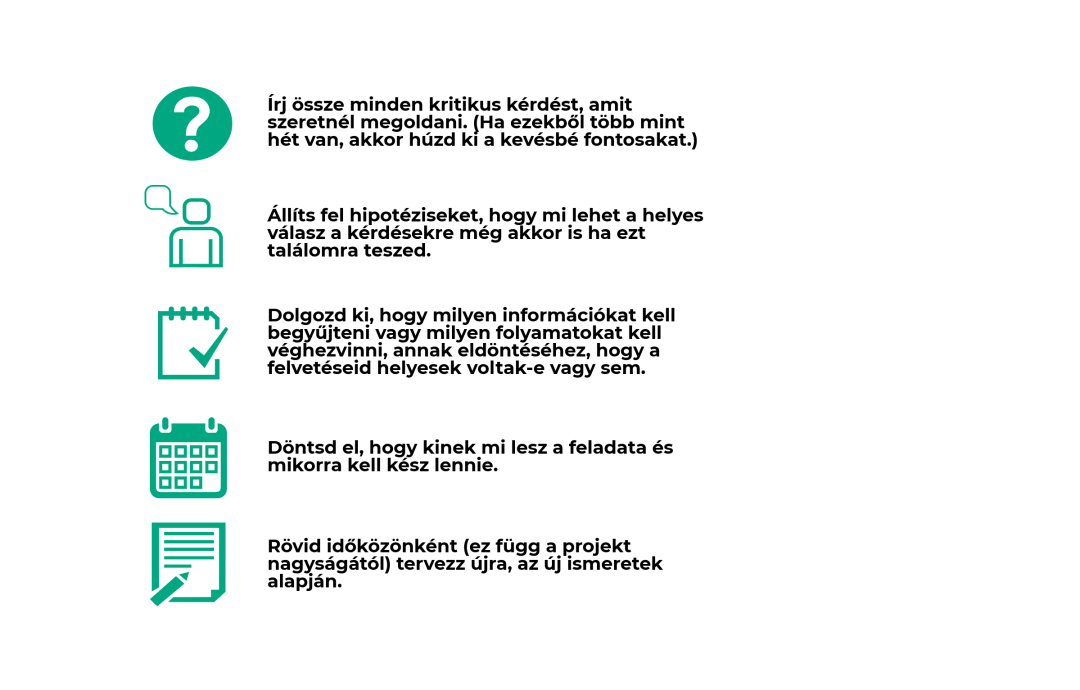 Projektmenedzsment 5 lépés
