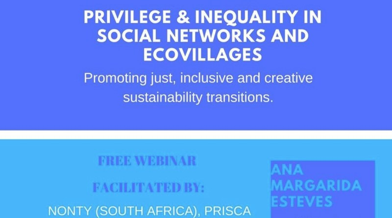 "13 JAN | Webinar ""Privilege and Inequality in Ecovillages"""
