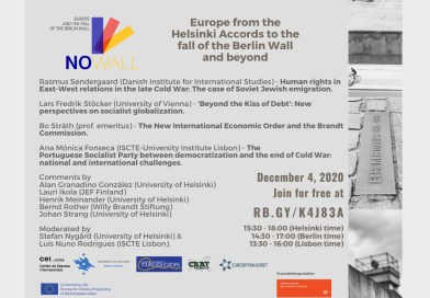 4 DEZ | Europe from the Helsinki Accords to the fall of the Berlin Wall & beyond