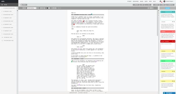 celtx script editor