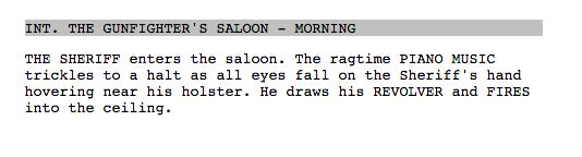 screenplay formatting breaking down the elements celtx blog