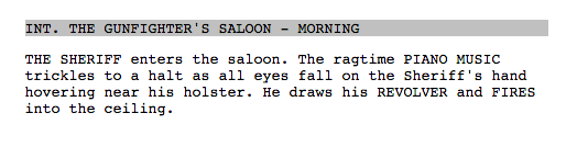 celtx script screenplay format formatting