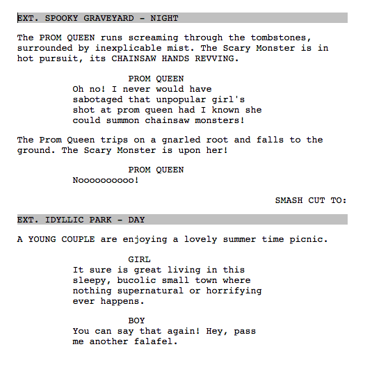 Screenplay Formatting: Breaking Down the Elements - Celtx Blog