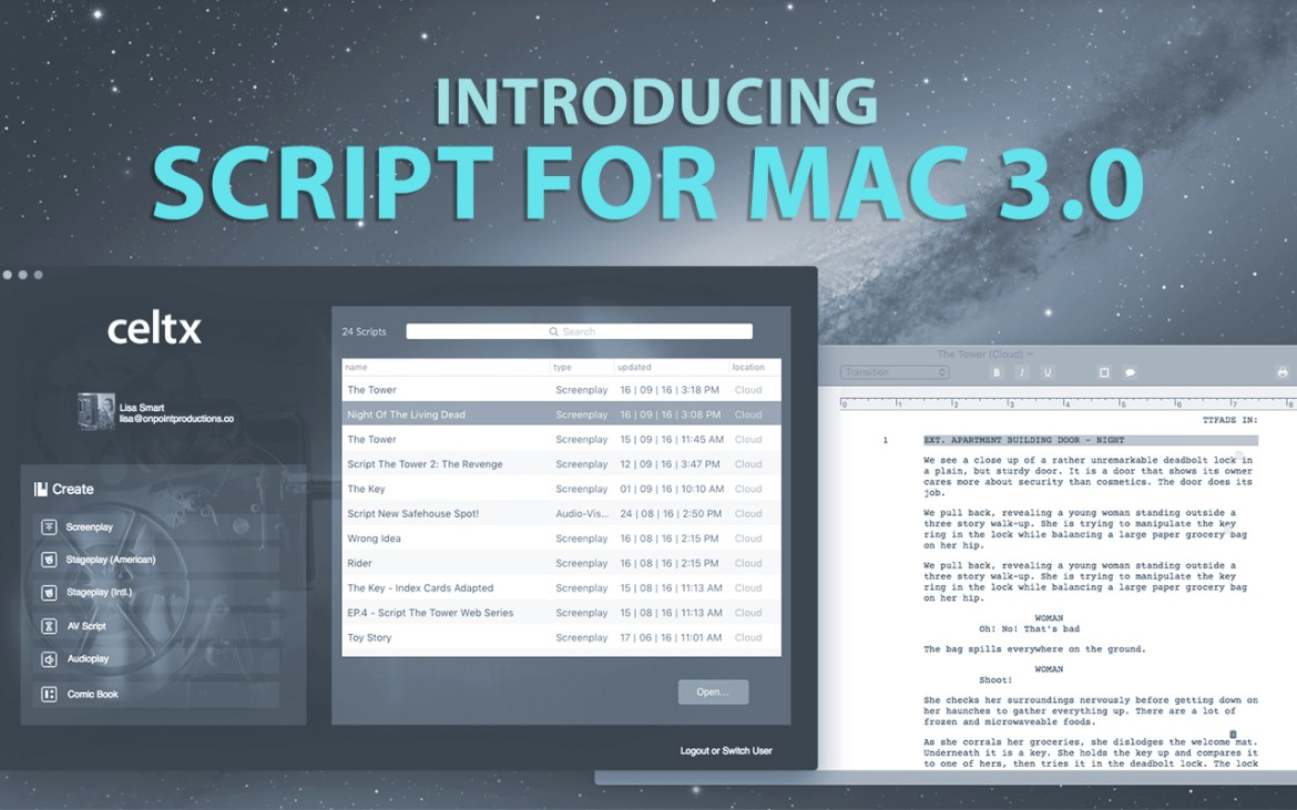 celtx script for mac