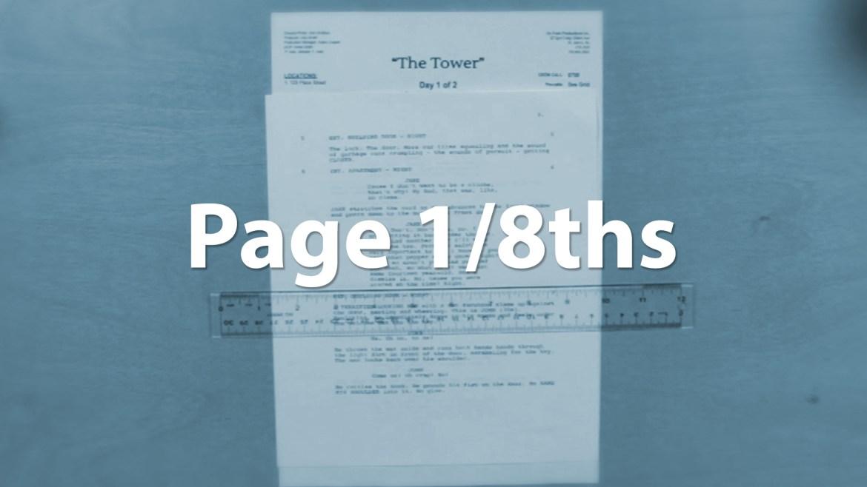 celtx page eighths