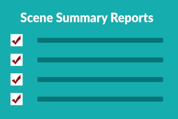 celtx scene summary reports