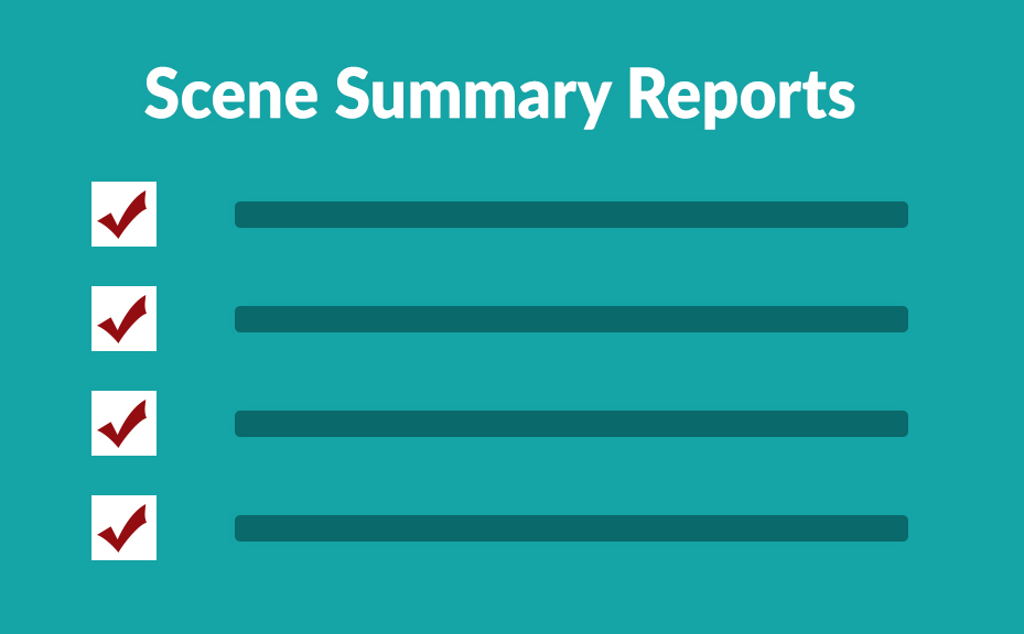 celtx scene summary reports