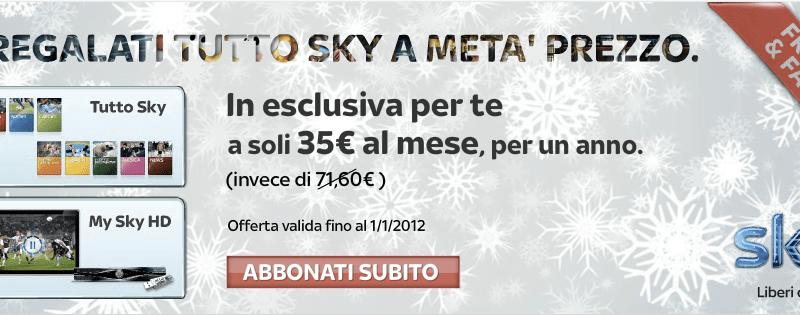 Regalo Sky a metà prezzo per 1 anno