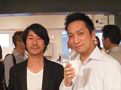 AIP Cafe Openの様子:タグスペース立尾氏とAIPコミュニティ会長岡部さん