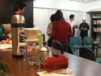 コーヒー豆の機械