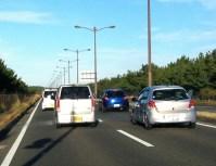 帰りの渋滞。海の中道から人工島までずっと渋滞した。