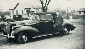 My father & his 1940 Packard
