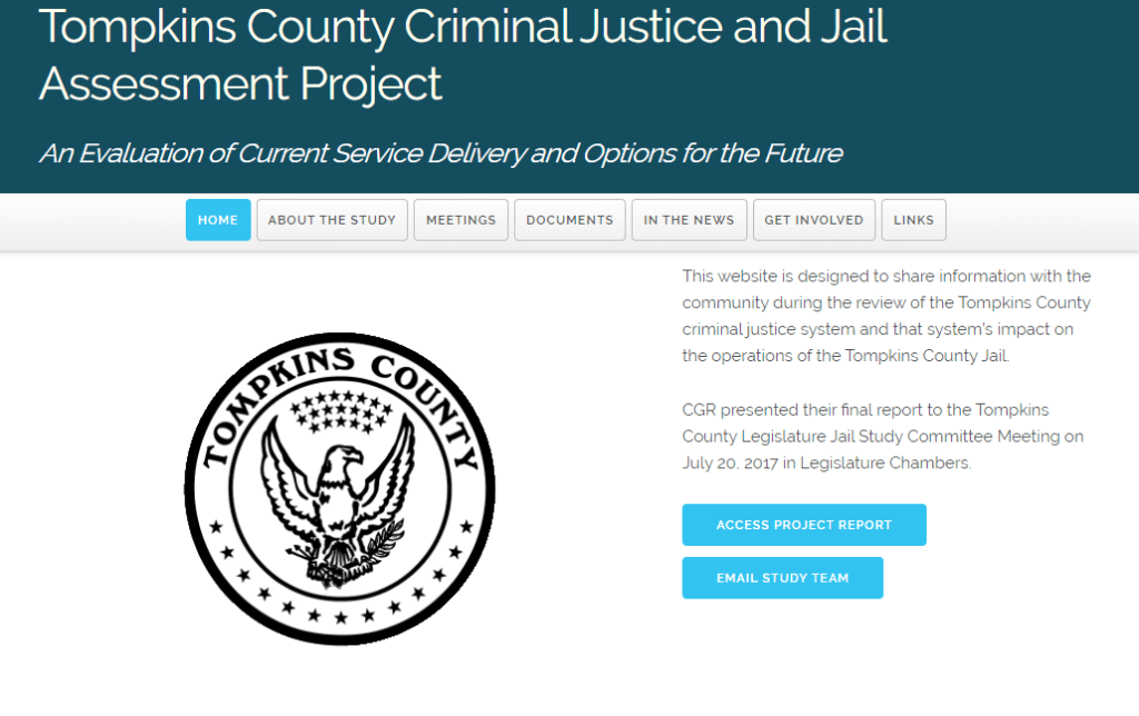 Tompkins County Criminal Justice and Jail Assessment Project
