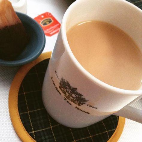 ミルクティー、でん!! #teatime #セイロンティー #ミルクティー (Instagram)