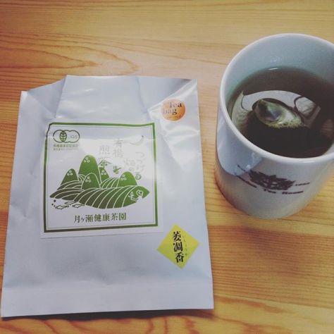 マグにチャポンとして淹れて飲むお茶。新しい挑戦? #奈良オーガニックマーケット #月ヶ瀬健康茶園 #萎凋香 #お茶の時間 (Instagram)