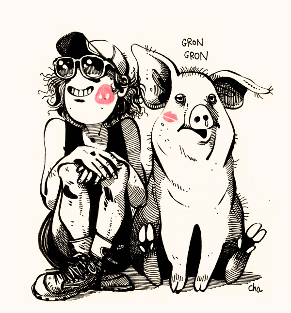 Love and Roupette the Pig