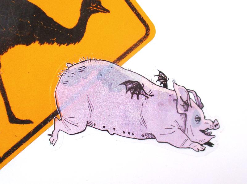 Stickers Roupette le cochon