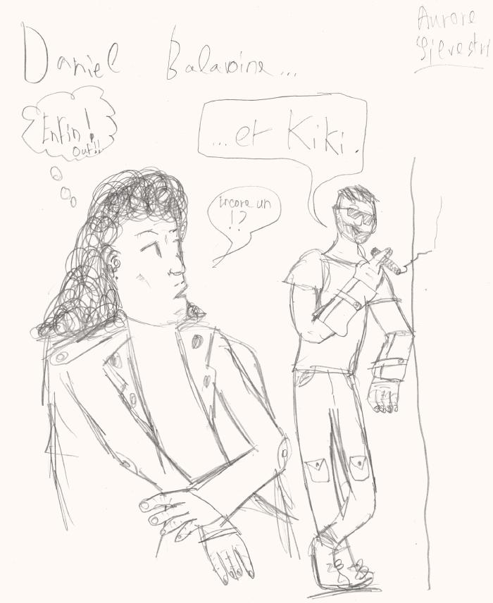 Daniel Balavoine et Kiki par Aurore Silvestri