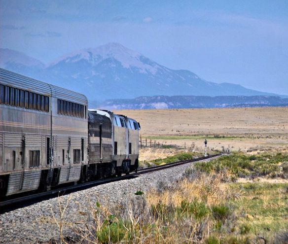 Amtrack's Southwest Chief in southern Colorado. By Steve Wilson - Flickr (Wikimedia Commons)