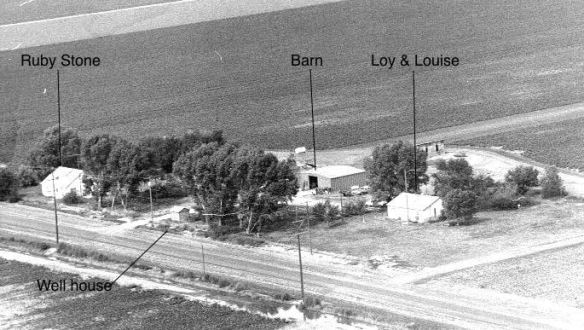 Former home of Loy and Louise Stone near Hereford, Texas