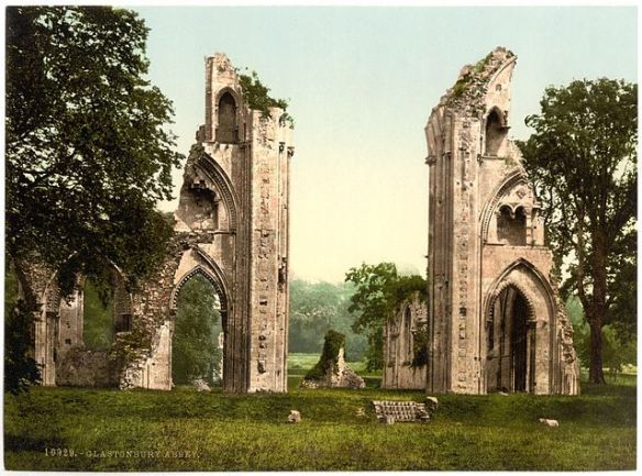 Ruins of Glastonbury Abbey, destroyed at the orders of Henry VIII