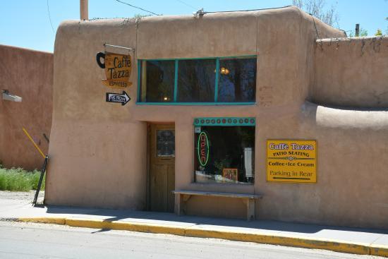 Exterior, Cafe Tazza, Kit Carson Road, Taos