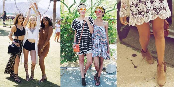 Chaussuresà Coachella : lacets et franges