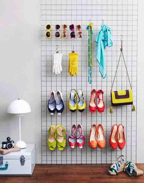 chaussuresonline-astuce-grillage-idée-rangement-chaussure-DYI-rangementschaussures