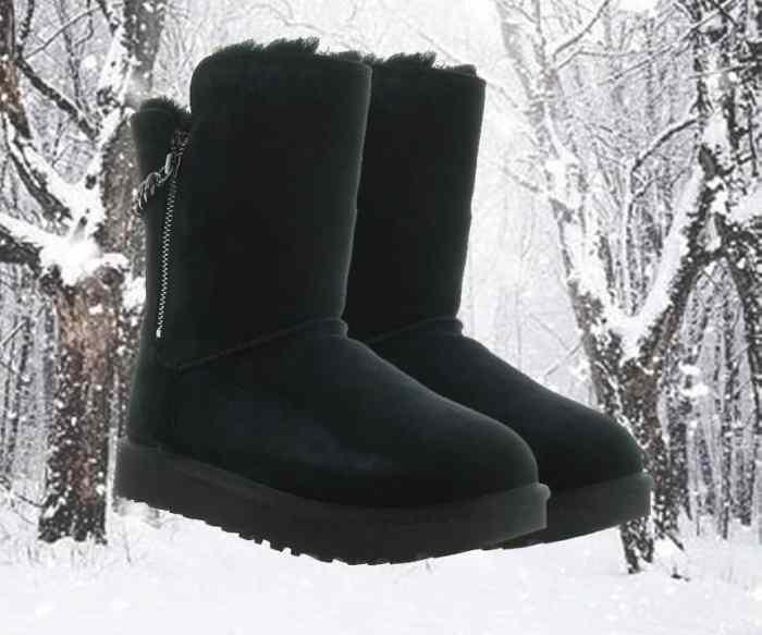 chaussuresonline-uggaustralia-classicshortsparkle-noir-chainettes-argent-marque-hiver-froid-neige-caoutchouc-tendance-idée-look