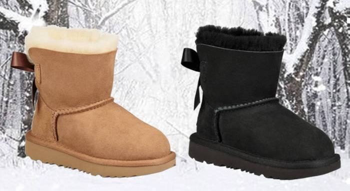 chaussuresonline-uggaustralia-idée-look-nubuck-neige-froid-minibaileybow-fille-noeud-fourrure-mouton-camel-noir