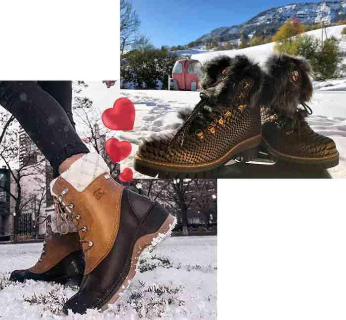 chaussuresonline-lagazettabychiara-blog-chaussures-bottesfourréesd'aprèsski-femme-newitaliashoes-sorel-hiver-montagne-froid-neige-bottines-boots-confort-tendance-mode
