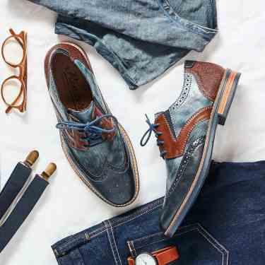 Rieker-13520-homme-marine-mode-tendance-dandy-hispster-marron-bimatière-cuir-lunettes-jeans-montre-bretelle-semellesgommes-voyage-aventures-vacances-découvertes
