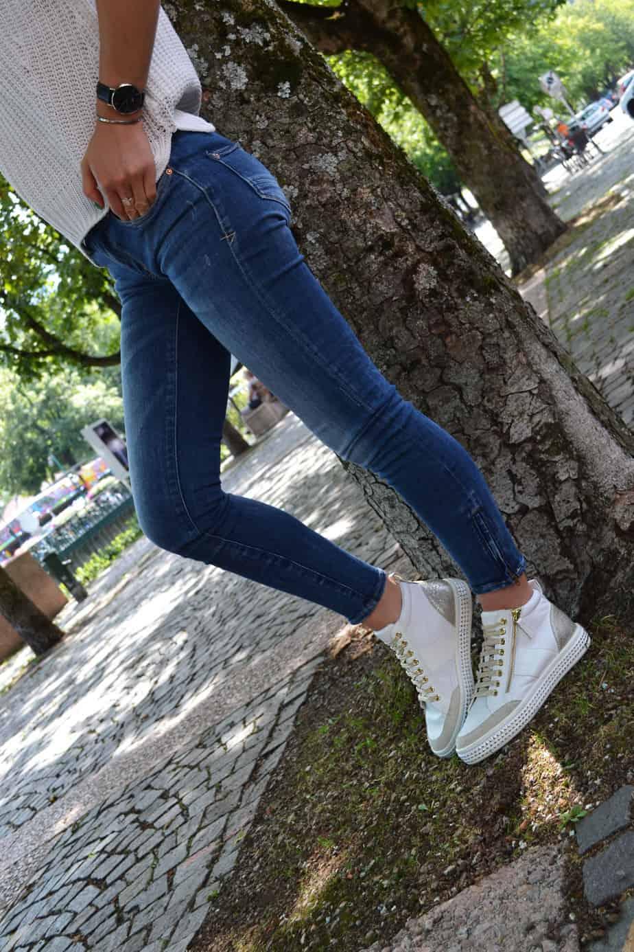 Chaussures casual femme Geox blanches à imprimé animal sur