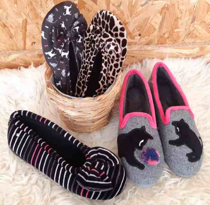 chaussons,isotoner,ballerines,noeud