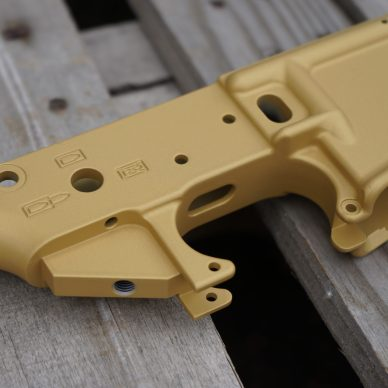 AR-15 Stripper Lower on Wood Floor