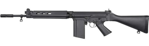 Black FAL rifle