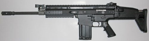 Black FN SCAR rifle