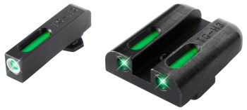 TruGlo TFO pistol sights with green fiber optic inserts