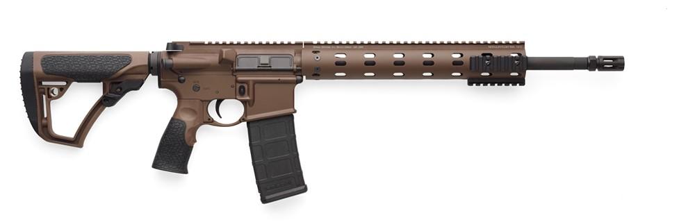 Pciture shows a Cerakoted Daniel Defense rifle.