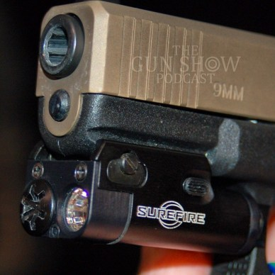Close up of SureFire compact pistol light