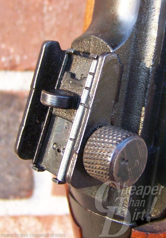 .30 carbine with a focus on the sights