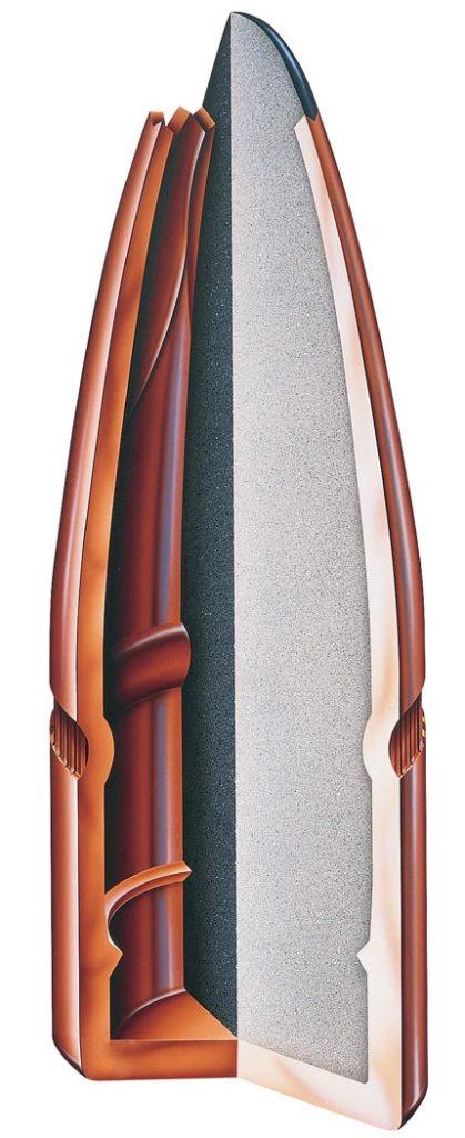 Cutaway of the inside of the Interlok bullet