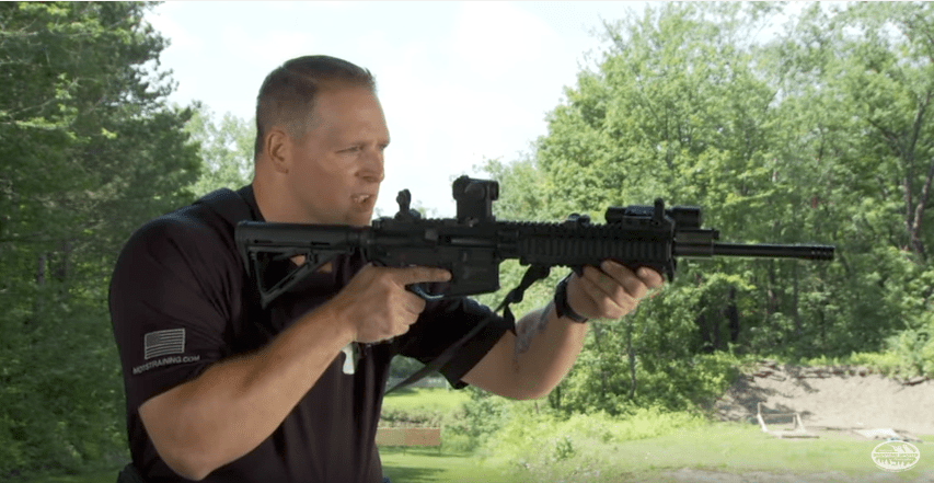 Video cover of how to safely load and unload an AR-15 rifle